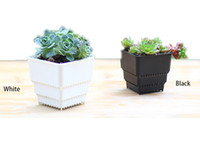 Wholesale Growth Green - 50PCS MOQ Wholesale Breathing and Root growth Square Flower Pot Bonsai Nursery Planter Lithops Creative Grow Pots for Home Garden Planter