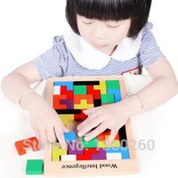 Wholesale Baby Jigsaw Puzzles - Wholesale- Wooden product jigsaw puzzle Tetris wholesale Montessori children force early wooden toy baby puzzles