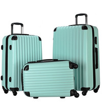 Wholesale Wholesale Trolley Luggage Bag - 20 inch 24 inch 28 inch Lightweight Spinner Trolley ABS Rolling Luggage Sets Travel Bags School Suitcase Carry on Cases