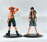 Wholesale One Piece Japan - 2015 New Japan Anime One Piece The Monkey.D.Luffy And The Portgas D Ace PVC Action Figure Set Toys Gifts