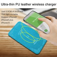 Wholesale Quick Mouse - Qi wireless quick charger Mouse Pad Multi Color 0.5 CM Ultra-thin PU Leather Support Sensor Charging for iPhone 8 iPhone8 Plus iPhoneX