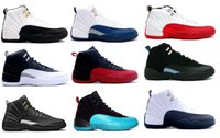 Wholesale Wool Black Grey - High Quality Air Retro 12 Wool Men women Basketball Shoes 12s Wool Grey Black Men And Women 12s Sports Sneakers air retro 12 shoes