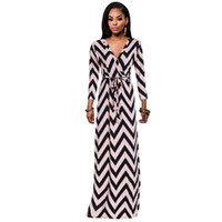 Wholesale Boutique Women S Dresses - free shipping high quality Winter long - sleeved dress 2017 fashion stripes boutique stretch skirt