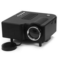 Wholesale vga lcd tv - Wholesale- UC -28 Portable LCD Projector 400 Lumens Mini Multimedia Player TV Beamer Support AV   SD   VGA   HDMI
