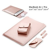 Stock En EE.UU. Soft Super Fiber manga bolsa para Apple Macbook Air Pro Retina 11