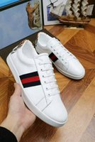 Wholesale Dragon 35 - Luxury Brand Women And Men Low cut Sports Casual Shoes Lace-up dragon Unisex Genuine Leather Sneaker Free Shipping Plus Size 35-46