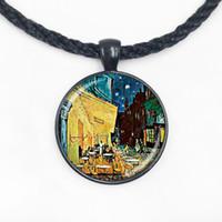 Wholesale Cafe Terrace - Wholesale Glass Dome Van Gogh paitting Cafe Terrace art pendant, Van Gogh art jewelry, bistro jewelry,restaurant pendant