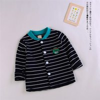 Wholesale Thin Baby Jacket - Spring jacket Autumn Baby Boys And Girls long-sleeved Clothes Cotton Children Thin coat Button 3 Collor available 80-100CM