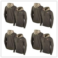 Wholesale Footballs Oakland - New Mens Women Youth Minnesota Oakland Baltimore Salute to Service Sideline Therma Pullover Football Sweatshirt Hood Hoodie S-4XL