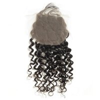 Wholesale Brazilian Invisible - 2017 fashionable hair products Virgin brazilian hair spiral curl invisible free part closure,swiss lace,bleached knots