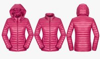 Wholesale Ladies Pink Winter Coats - Fashion New Women Puff Jacket Solid Colourful Light Hooded Slime Topsa Ladies Winter Warm Outwear Female Winter Coats