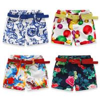 Wholesale Pants Porcelain - Summer Kids Short Baby Girl Floral Short Pants Blue and White Porcelain Pattern Short Pants 6 p l