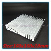 Wholesale Extruded Aluminum Heatsink - Wholesale- 100% new 100x100x18mm radiator Aluminum heatsink Extruded heat sink for 20-50W LED, Electronic heat dissipation