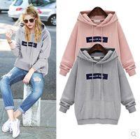 Wholesale Kpop Pullover - Winter Casual Cotton Love Pink Sweatshirt Kpop Cute Women Hoodie Long Fleece Plus Size M-3XL Sailor Moon Totoro Bts Hoodies