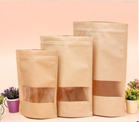 Wholesale Custom Printed Paper Bags Wholesale - Custom tea bags standing kraft paper bags nuts food packaging paper dried fruit class sealed bags