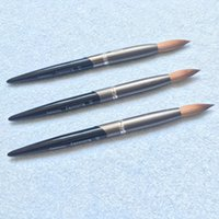 Wholesale Kolinsky Nails Brush - New Arrival 2017 Round Sharp Nail Tool Black Handle #10#12#14#16#18#20#22#24 Pure Kolinsky Professional Painting Nail Acrylic Brush 1pcs