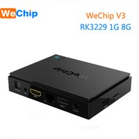 Wholesale Tv Box V3 - WeChip V3 KDPlayer 16.1 Android 6.0 android tv boxes RK3229 Quad Core 1G 8G 2.4G Wifi HD Media Player