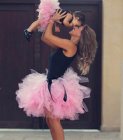Reference Images black ruffle skirt outfit - Mother and Daughter Tulle Skirts Pink Tutu Cute Ruffles Puffy Parent child Skirt Sweet Family Dresses Alikes Matching Outfits Summer
