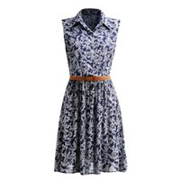 Wholesale Pinup Floral Dress - Summer Women Dress 2017 Retro Vintage Dresses Floral Print Dot Robe Femme Rockabilly Plus Size Pinup Swing Party Dress