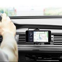 metall-handy-halter großhandel-360 grad Air Vent Mount Mobile Smartphone Halter Handfree Armaturenbrett Telefon Metallständer Für Handy
