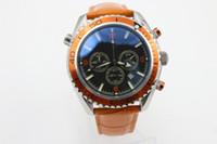 Wholesale Mens Clasp Belt - Top watch men Fine quartz chronograph Professional Planet Ocean Co-Axial Dive Wristwatch original clasp Stainless Steel Belt mens watches