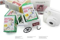 Wholesale wholesale polaroid cameras online - High quality Instax White Film Intax For Mini S s Polaroid Instant Camera DHL free