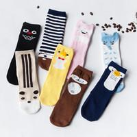Wholesale Totoro Girl - 2017 Fashion unisex cartoon Animal leg warmers baby girls & boys knee high Totoro Panda Fox socks kids cute Striped Knee Pad sock A6817