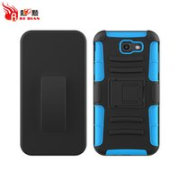 Wholesale Marketing Iphone - US Market Hottest Comfortable Good Touch Kickstand Heavy Duty Rubberized Holster Belt Clip Mobile Phone BackCover For Samsung Galaxy J7 2017