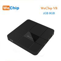 2018 Date WeChip V8 android tv boîte 7.1 OS Amlogic S905W 1G / 8G Media Players Mieux que X96 mini tv box