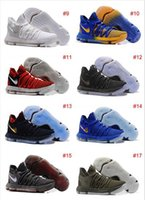 Wholesale Cheap Men Kd Shoes - Wholesale 2017 New KD 10 X Oreo Be Cheap True Basketball Shoes for Kevin Durant Finals PE University Red Mid Cut Sports Sneakers