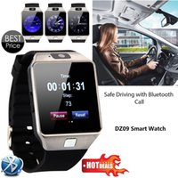 Wholesale Card Inserts - Fumalon DZ09 Smart Wear Watches Can Insert SIM Card Can Call Fashion Bluetooth Watch With Camera For Android Phone