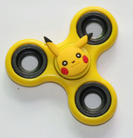 Wholesale Patterns Toys - New Hot sale many anime pattern HandSpinner include pikachu fidget spinner three -leaf Fingertip gyro finger gyro decompression gyroscope