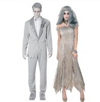 Costumi di Halloween New Zombie Mens Vampire Ghost Sposa Personaggio Inferno Ragazza Dea Ragazza Zombie Masquerade Ghost sposo Performance Costumi