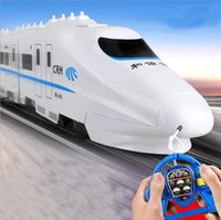 Wholesale Battery Trains - Harmony high - speed rail EMU electric wireless remote control small train children 's birthday gift toys DA66