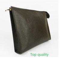 Wholesale Toiletry Bags For Women - Top quality! New Travel Toiletry Pouch 26 cm Protection Makeup Clutch Women Genuine Leather Waterproof 19 cm Cosmetic Bags For Women M47542