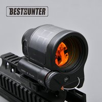 Wholesale Srs Scope - Tactical Hunting Reflex Sight Solar Power System Trijicon SRS 1X38 Red Dot Sight Scope With QD Mount Optics Rifle Scope