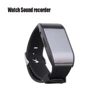 Wholesale hidden audio voice recorder - Wholesale-Professional Watch Digital Voice Recorder Wearable Wristband 8GB Hidden Voice Recorder MP3 Sound Dictaphones USB Audio Recorder