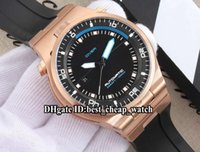 Wholesale Auto P - Super Clone Brand DIVER P'6780 P6780 Racing Design 47mm Automatic Black Dial Mens Watch Rose Gold High Quality Rubber Strap Man Sport Watch