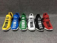 Wholesale Human Trainer - Originals HU MAN NMD Pharrell X NMD Human Race Sports running Shoes Runner sky blue Red Athletic sneakers Fashion Casual Trainers
