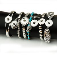 Wholesale Silver Chains For Men 12mm - Mix style Noosa 12MM &18MM Snap bracelets fit for woman and man N24