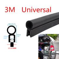 Wholesale Car Rubbers Seals - Universal 3M Car Door Black Rubber O U Channel Edge Edging Trim Seal Trunk Strip