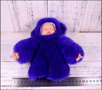 Wholesale Man Realistic Girl Dolls - 7.87 Inch Rex rabbit fur Doll Keychain pompons keychains Babies For Girls Realistic Alive Soft Baby Doll bonecas reborn Car Keychains