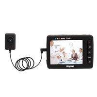 botón mini grabador de video al por mayor-2.5 pulgadas LCD Angel Eye Mini sistema de grabación de video portátil Botón DVR Grabador de video Cámara