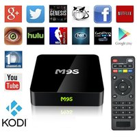Wholesale Home Solutions - M9S Android TV Box Amlogic S905X RAM 1GB ROM 8GB Home Streaming Solution Android 6.0 Kodi 16.0 HDMI2.0 4K Wifi Mini PC Android