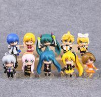 Wholesale Vocaloid Rin Figure - VOCALOID Hatsune Miku Meiko Kagamine Rin Ren Luka Haku Kaito PVC Figures Toys 10pcs set CVFG120