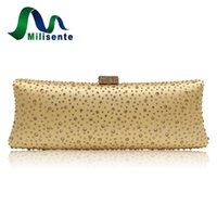 Wholesale Hot Fix Crystal Shapes - Milisente Women Hot Fix Crystal Evening Bag Wedding Party Purse Top quality Chain Gold Pink Green Blue Silver Fushia