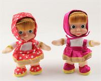 Wholesale Dance Talk - Wholesale- 1pc Masha and Bear Singing Talking Dancing Masha Doll Classic Baby Music Stuffed Plush Toys Kids Gift Russia Anime Figure Toys