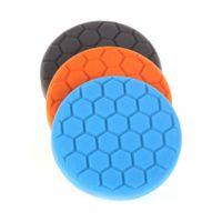 Wholesale polisher kit pads for sale - 3pcs set quot Buffing Foam Sponge Buffing Polishing Pad Kit Set For Car Polisher Multi Color Variety