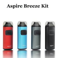 Authentische Aspire Breeze AIO Kit 2ml Kapazität Eingebaute 650mAh Batterie TPD U-tech 0.6ohm Rebuildable Aspire Breeze Coil Vape Drip Tip Case