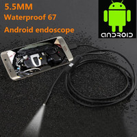 Faible coût promotionnel 1,3 million de pixels 5.5mm Andrews téléphone portable endoscopie androïde téléphone portable endoscope industriel 1 mètre de long